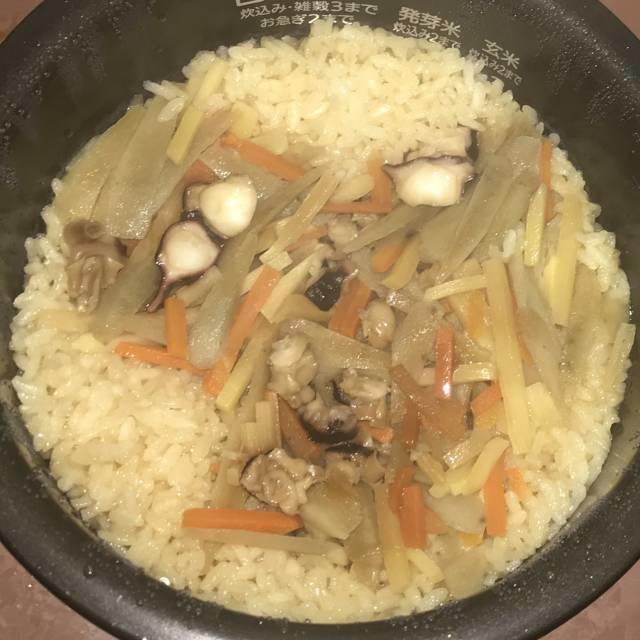 「たこ飯」の炊きあがり