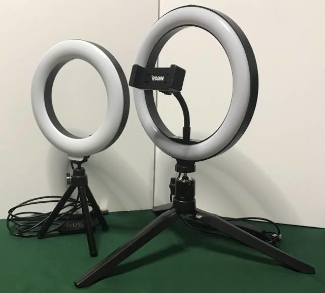 「LEDリングライトPREMIUM」と「LEDリングライト30」