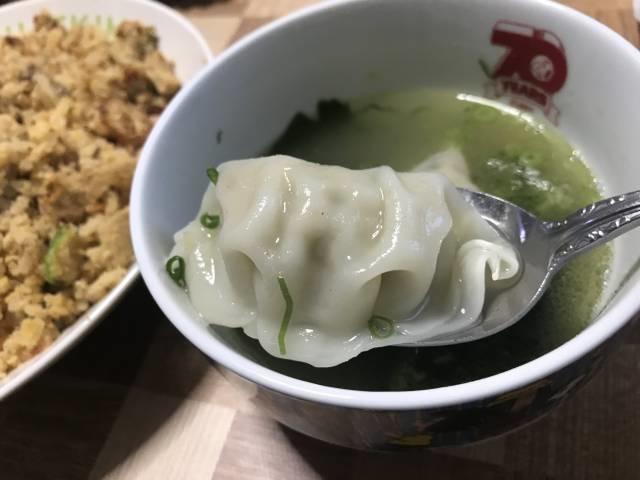ニラ餃子のスープ