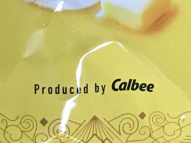 パッケージの「Produced by Calbee」