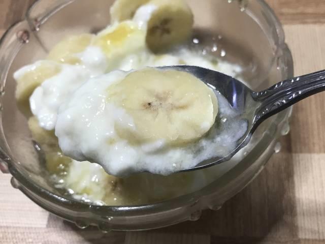 バナナが冷たい
