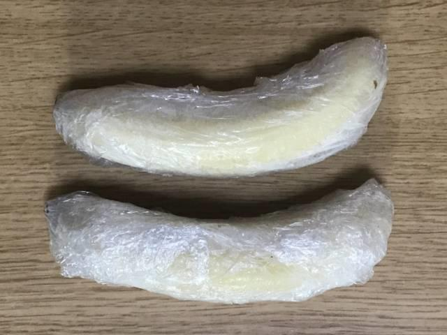 冷凍されたバナナ
