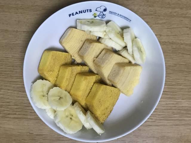 バナナのスライスも添える