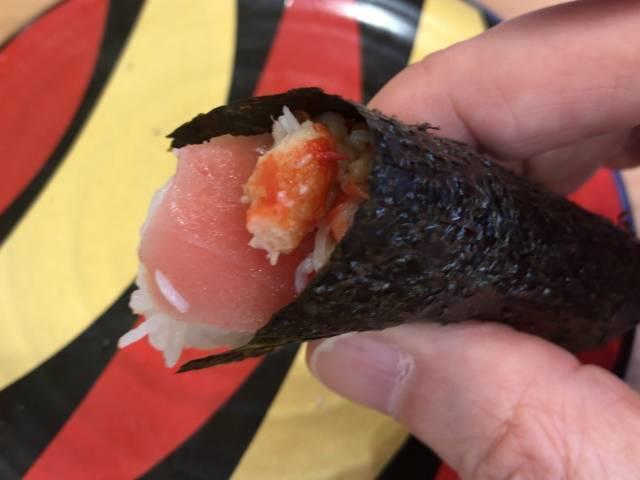 つかみ寿司の食べ方