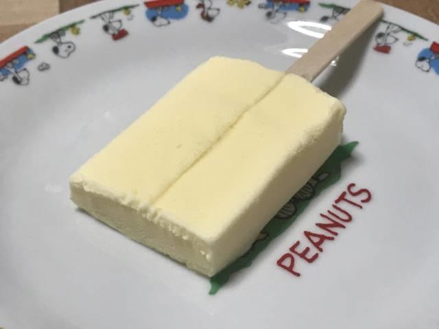 赤城乳業の「かじるバターアイス」の断面