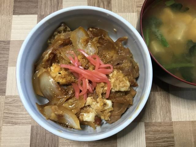「蒲焼鶏」の親子丼の完成