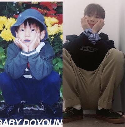 ドヨンの小さい頃と今の写真比較