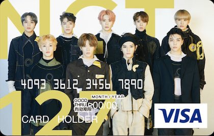nct127 visaカード