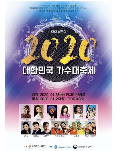 nctdream 出演 2020 大韓民国歌手大祭典