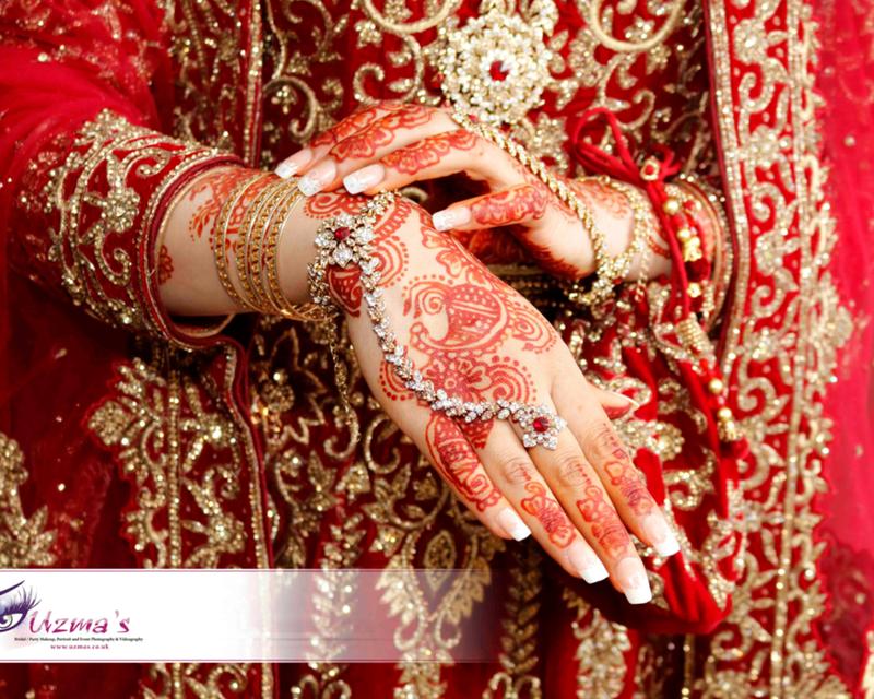 Henna Mehndi on a British Asian Bride