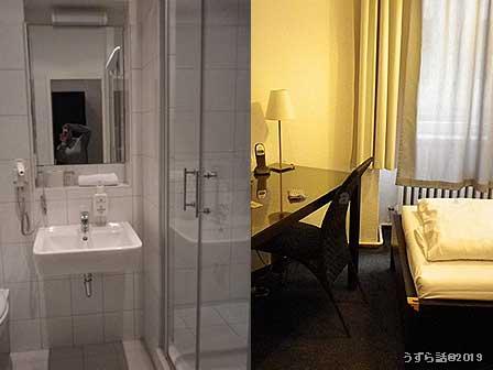 ベルリンのホテルの部屋