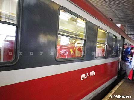 オシフェンチム行きの列車