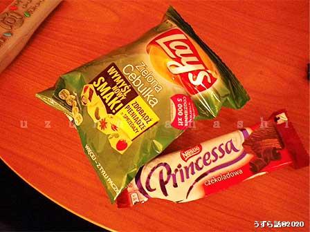 ポーランドのスーパーの菓子