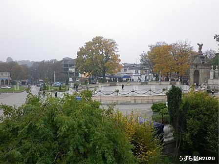 チェンストホーヴァの町の方角