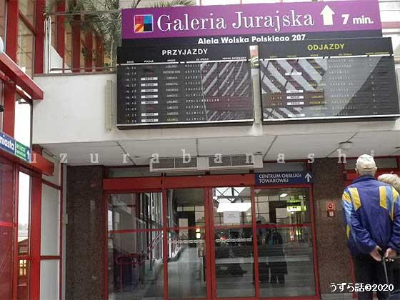 チェンストホヴァ駅  時刻表示板