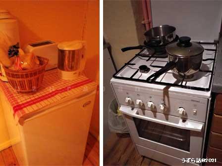 ガステーブル&冷蔵庫