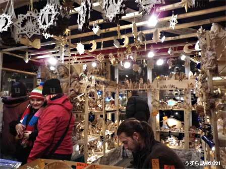 クリスマスマーケットの店内