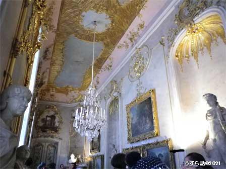 サンスーシ宮殿の室内