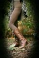 雑木林にて妊娠披露