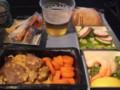復路の機内食