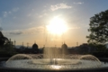 『京都新聞写真コンテスト 夕陽にかかる水』