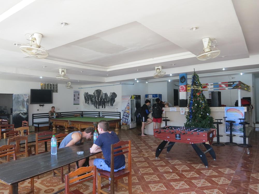 バンビエンの宿、チラオス・ゲストハウスの様子