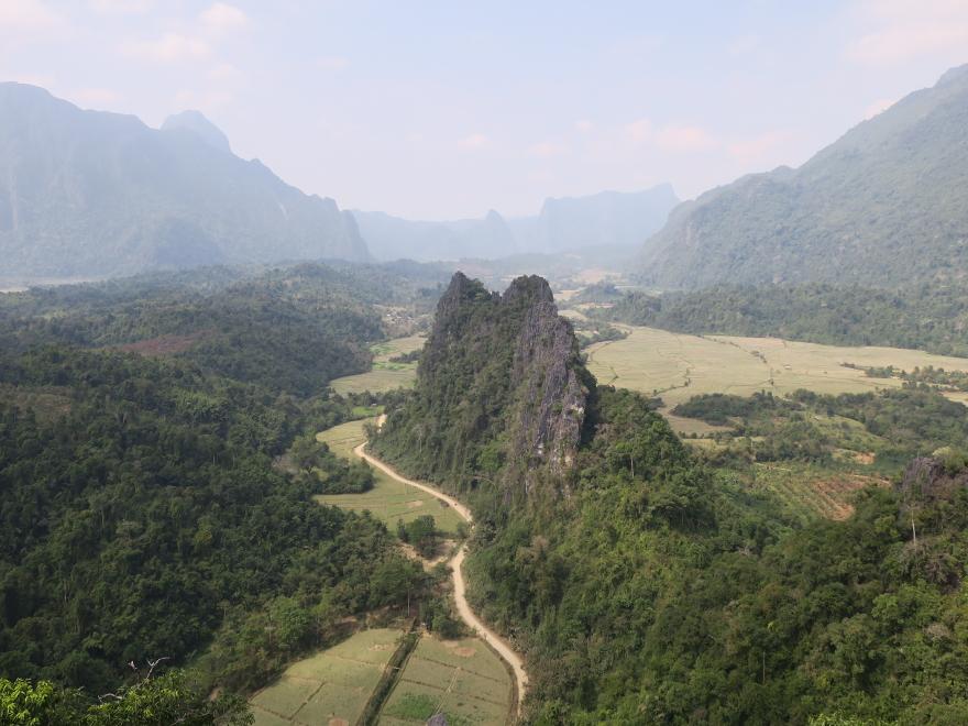バンビエンの絶景ポイント ナムサイ・トップ・ビュー(Nam Xay Top View)