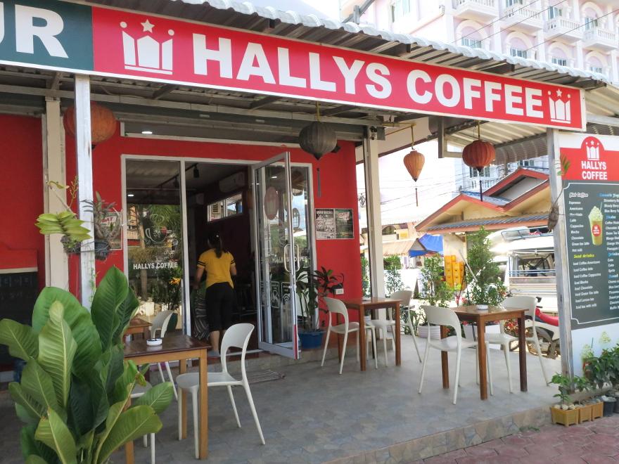 バンビエンのカフェ、ハリーズ・コーヒー(Hallys Coffee)