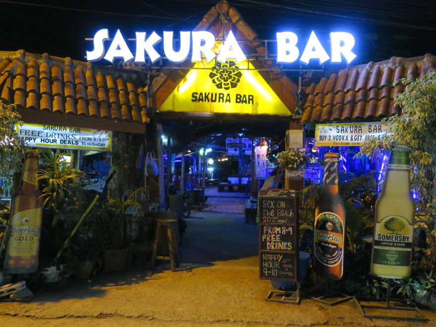 バンビエン サクラバー Vang Vieng Sakura Bar