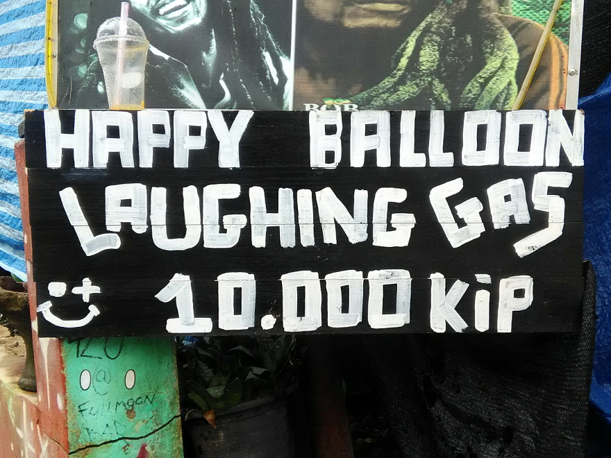 Happy Balloon, Laughing Gas in Vang Vieng