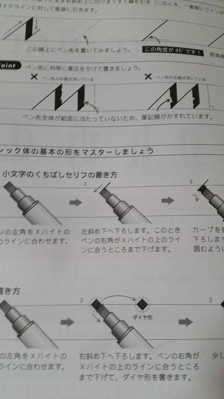 カリグラフィー練習帳