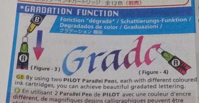 グラデーションも書けるカリグラフィーペン