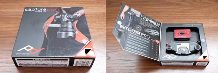 Peak Design キャプチャープロカメラクリップwith PROプレート CP-2外箱