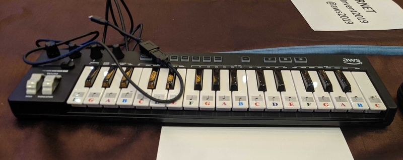 DeepComposerのキーボード
