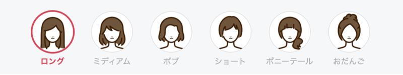 髪型の一覧