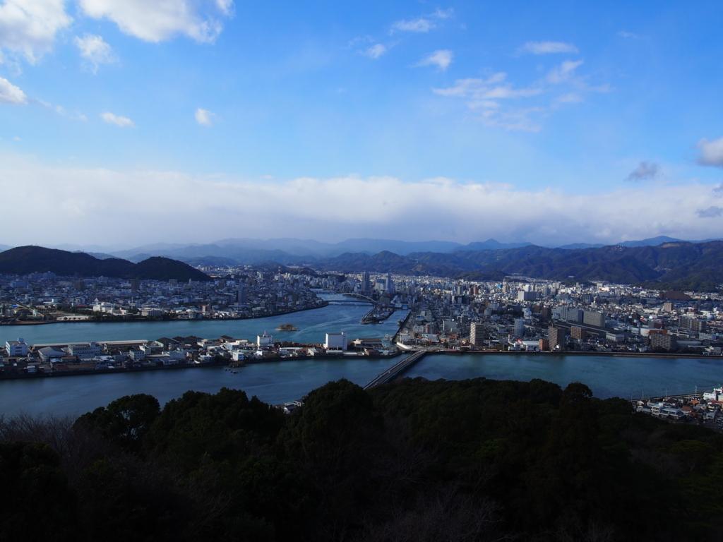 高知県五台山展望台からの景色