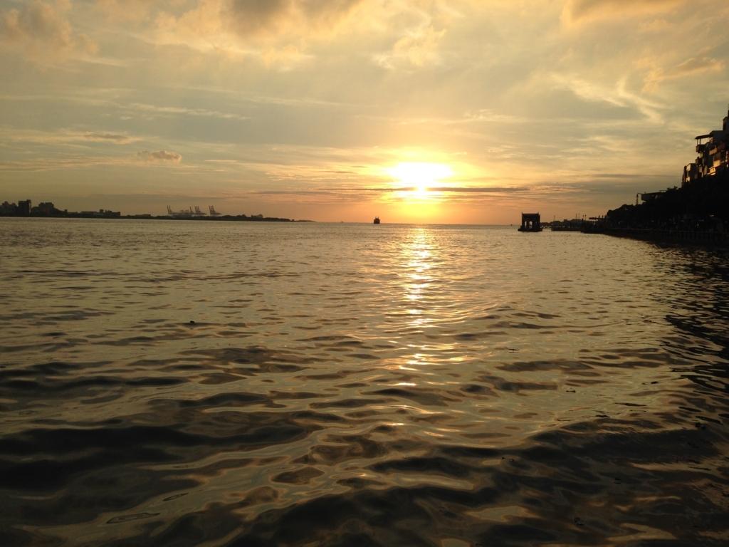台湾淡水の夕日