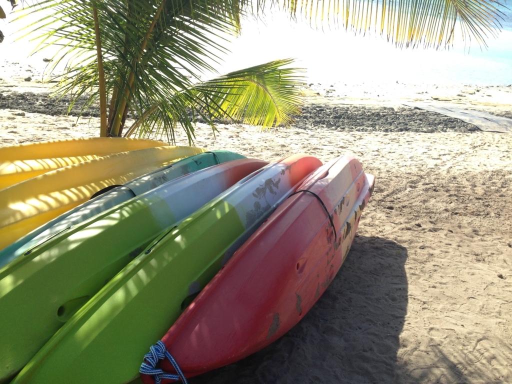 ニューカレドニアのカラフルなカヌー