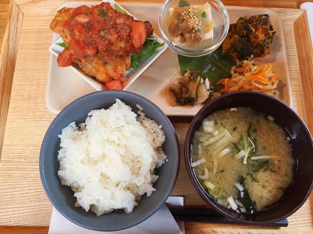 谷中のご飯屋さんTAYORIの日替わり定食