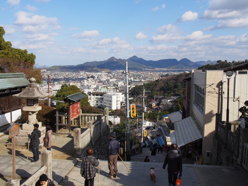 香川県金毘羅山の景色