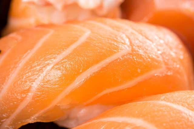 鮭のお寿司の写真