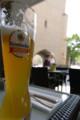 ミュンヘン出発前、最後の飲み物はやはりビール\(^o^)/