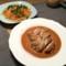 人参とツナのサラダと鶏の黒酢照焼き