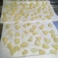煮た晩白柚の皮を干す