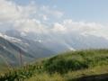 バルム峠からのモンブラン山群展望