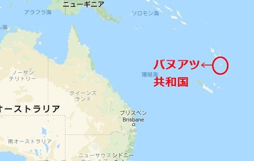 バヌアツ共和国地図