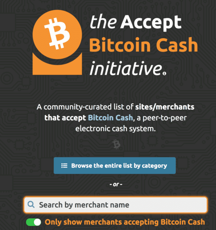 The Accept Bitcoin Cash Initiative