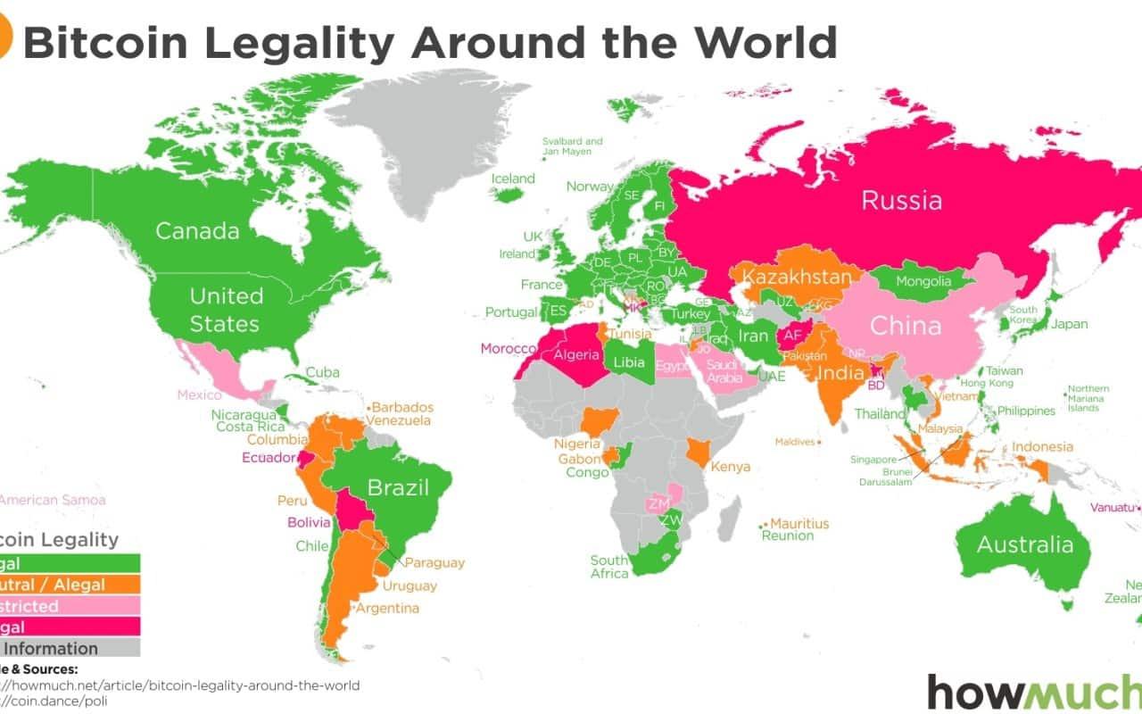 仮想通貨規制・国別マップ