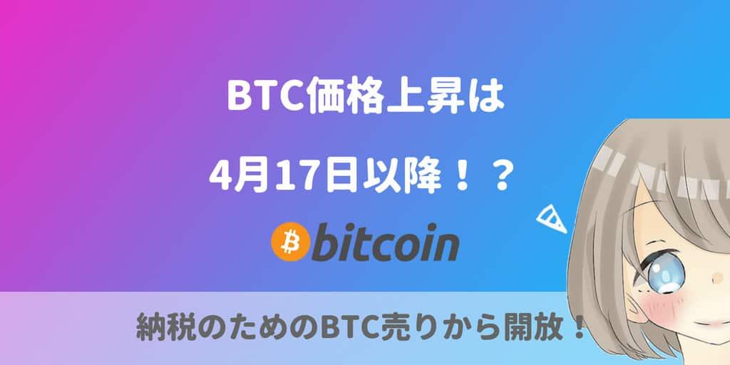 ビットコイン(BTC)価格上昇は4月17日以降