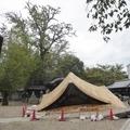 台風20号で倒壊した大将軍神社の拝殿